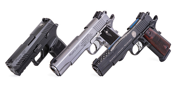The SIG Sauer NLEOMF Commemorative pistols will be distributed exclusively through Kroll...