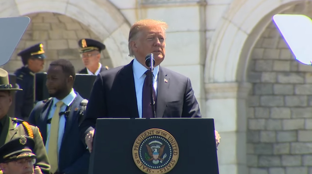 Video: Trump Praises Courage of Fallen at Police Week Ceremony