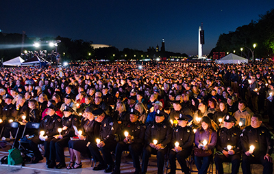 The names of 371 fallen officers were read aloud at the 31st Annual Candlelight Vigil Monday night. (Photo: NLEOMF)
