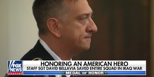 "Former Army Staff Sgt. David G. Bellavia described receiving the Medal of Honor as ""overwhelming."""