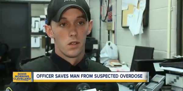 Officer Aaron Franklin freed six teens trapped in a storm drain being filled with rushing waters...