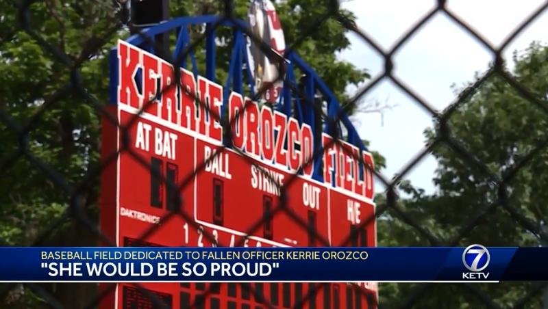 First Pitch Thrown at Kerrie Orozco Memorial Ballfield, Named for Slain Nebraska Officer