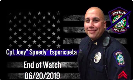 Cpl. Jose Espericueta of the Mission (TX) Police Department was shot and killed Tursday night. (Photo: MIssion PD/Twitter)  -