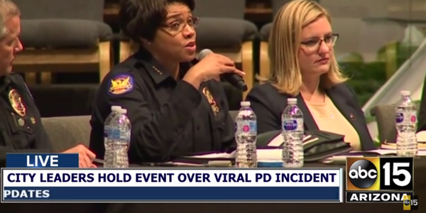Phoenix PD Police Chief Jeri Williams assured those gathered that the meeting would not be the...