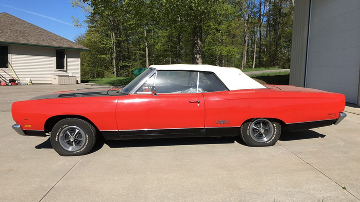 A rare Plymouth muscle car is being auctioned off by Michigan police.  - Photo: LeLenau County (MI) Sheriff's Office