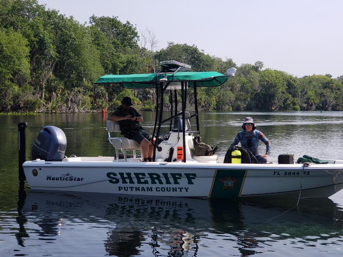 Divers with the Putnam County (FL) Sheriff's Office were conducting training on a local river when they discovered a significant amount of debris on the riverbed where the exercise was being conducted.  - Image courtesy of thePutnam County Sheriff's Office / Facebook.