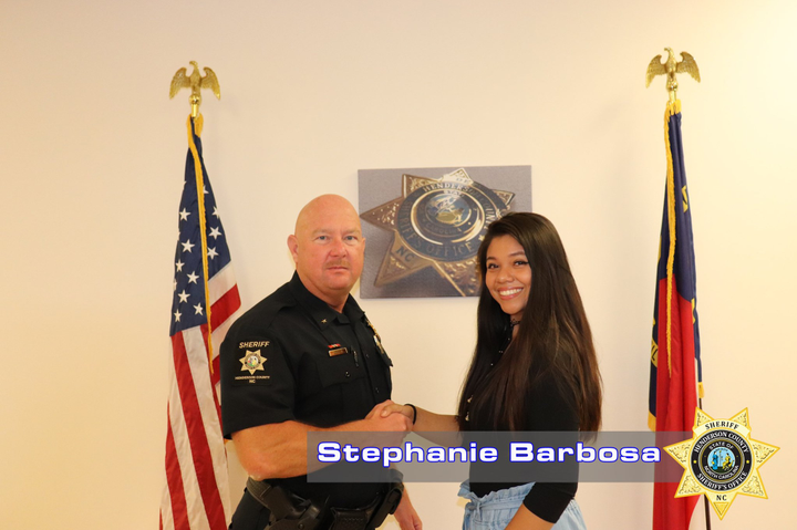 The Henderson County (NC) Sheriff's Office hired Stephanie Barbosa as the agency's first ever Liaison Outreach Coordinator, a post aimed at improving communications through community outreach.  - Image courtesy of Henderson County SO / Facebook.