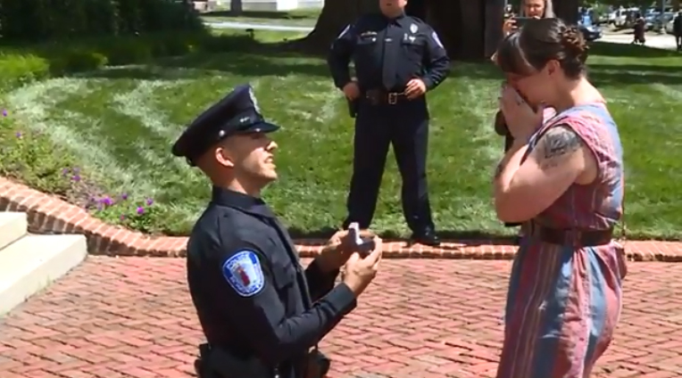 Virginia Officer Proposes to Girlfriend at His Academy Graduation