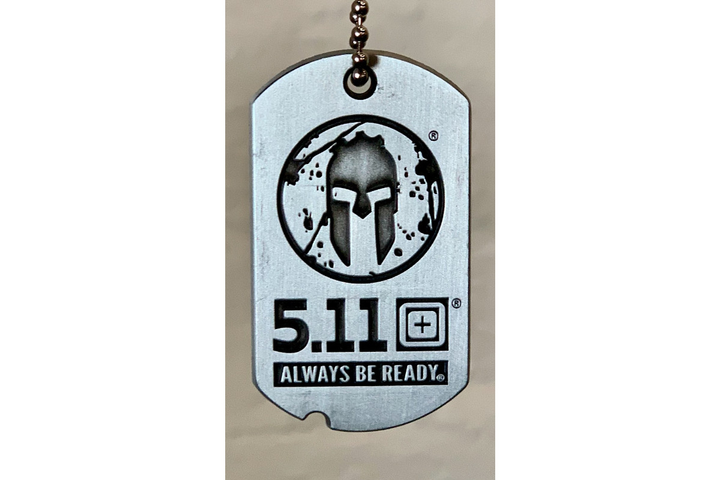 Every race participant will receive a 5.11 x Spartan branded dogtag.  - Photo: 5.11 Tactical