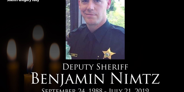 Deputy Benjamin Nimtz was killed in a traffic collision while responding to a call of a domestic...