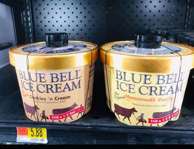 The Fulshear Police Department is suggesting a clever—albeit probably tongue in cheek—solution to the issue of young people entering stores opening packages of Blue Bell ice cream and licking the top.  - Image courtesy ofFulshear Police Department / Facebook.