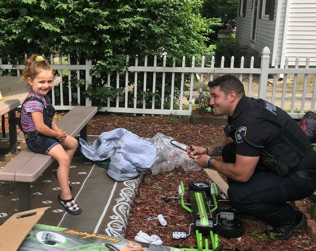 An officer with the Chicopee (MA) Police Department was called last week to take a report of a stolen vehicle—a pedal car owned by a four-year-old girl that was stolen from her front yard.