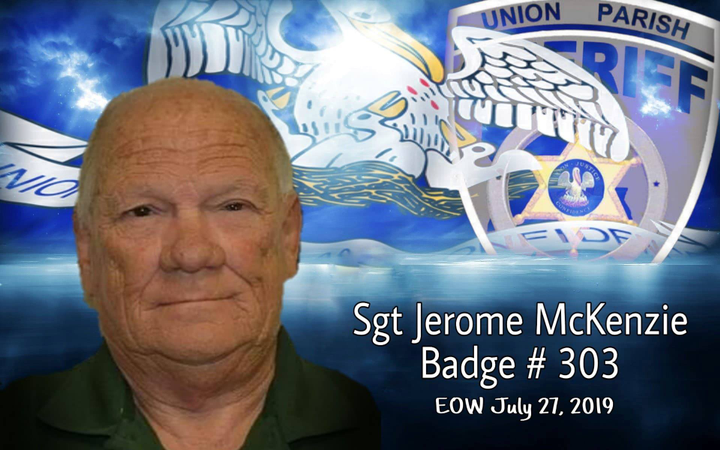 Jerome McKenzie. SGT McKenzie suffered a heart attack while on duty on July 17 and passed away on Saturday, July 27.  - Image courtesy ofUnion Parish Sheriff's Office / Facebook.