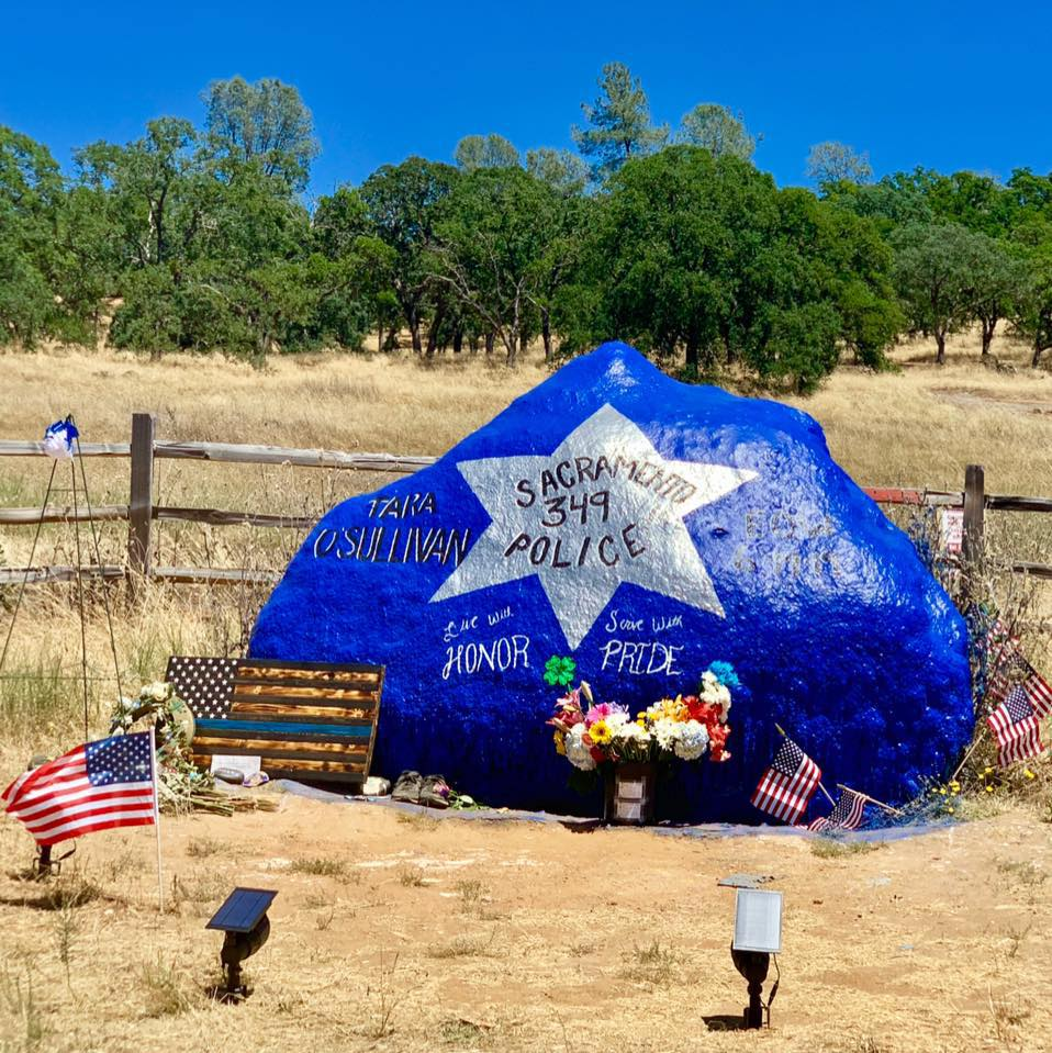 Memorial Rock Honoring Slain Officer Defaced by Vandals