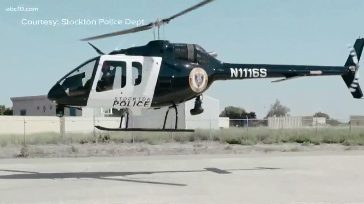 The Stockton Police Department recently announced the acquisition of a brand new helicopter to assist officers from above.  - Image courtesy of Stockton PD.