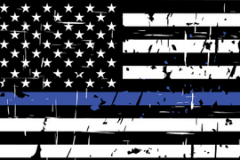 Family of Fallen Officer Forced to Remove Thin Blue Line Flag
