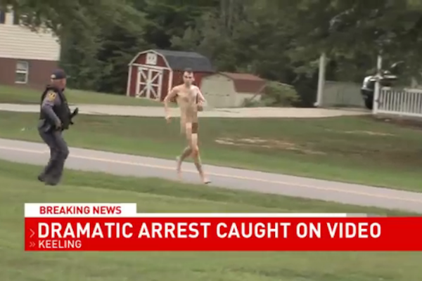 Video: Virginia Police Chase, Catch Naked Murder Suspect