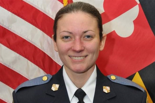 Officer Amy Caprio was struck and killed by a stolen vehicle in May 2018.