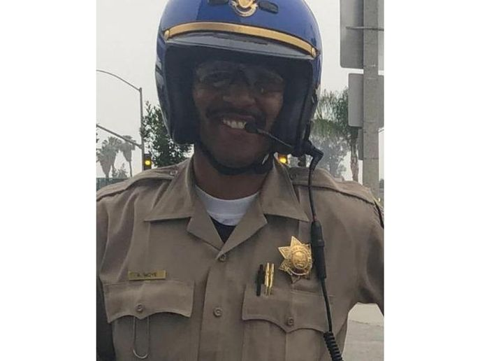 California Highway Patrol Officer Andre Moye was killed during a gunfight with a rifle-wielding gunman Monday night. (Photo: CHP)  -