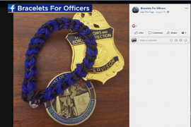 8-Year-Old Pennsylvania Girl Weaves Wristbands to Honor Police Officers