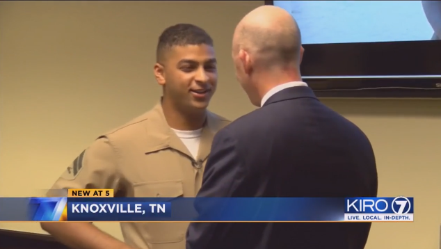 Marine Kidnapped as Baby Meets FBI Agent Who Rescued Him