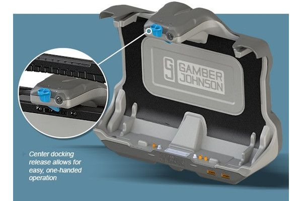 Gamber-Johnson NotePad Touch Universal Tablet Cradle docking station for the Getac UX10 fully rugged tablet computer