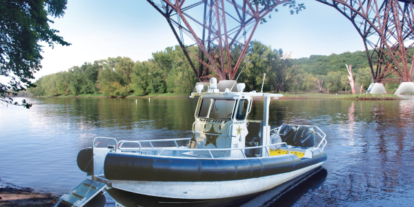 The St. Croix County (WI) Sheriff's Office took delivery of this custom-built Lake Assault Boats...