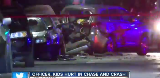 Milwaukee Officer Seriously Injured in Pursuit Crash
