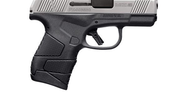 The Mossberg MC1sc Stainless Two-Tone in 9mm is available in standard-frame and cross-bolt...