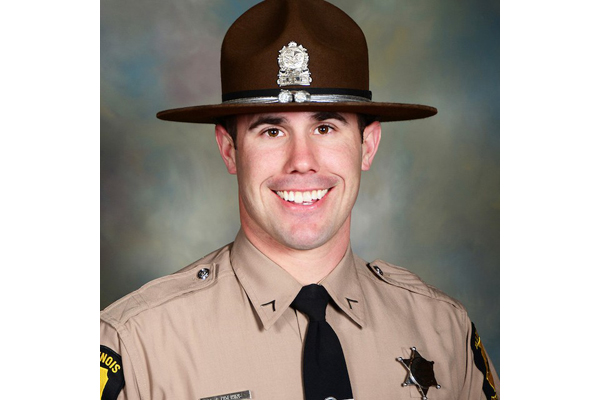 Trooper Nicholas Hopkins was with other members of the Emergency Response Team making entry into a home when he was shot by an occupant during an exchange of gunfire.