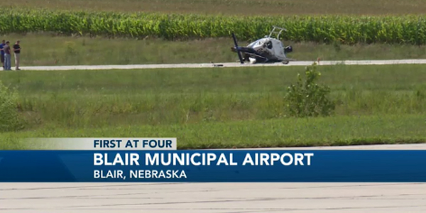Two pilots with the Omaha (NE) Police Department suffered minor injuries when the helicopter...
