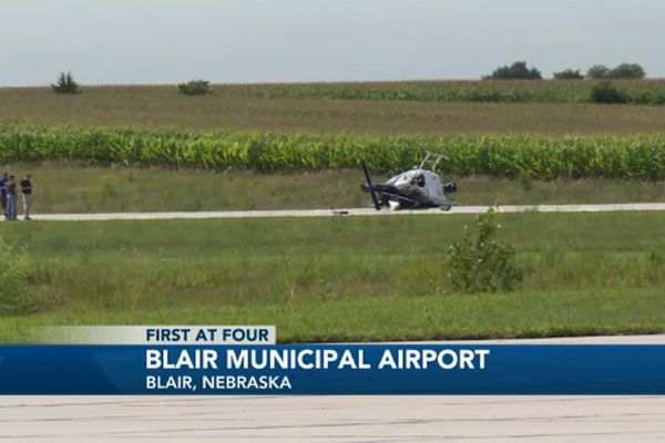 Two pilots with the Omaha (NE) Police Department suffered minor injuries when the helicopter they were flying had a power loss as it was about to land.