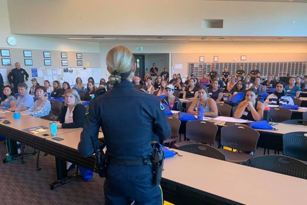 The San Jose Police Department recently hosted a recruitment event targeting female candidates.  - image courtesy of SJPD / Facebook.