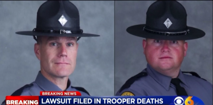 Virginia State Troopers Henry John Cullen III and Berke Morgan Matthew Bates were killed in a helicopter crash during the 2017 white nationalist rally in Charlottesville. (Photo: WTVR screen shot)