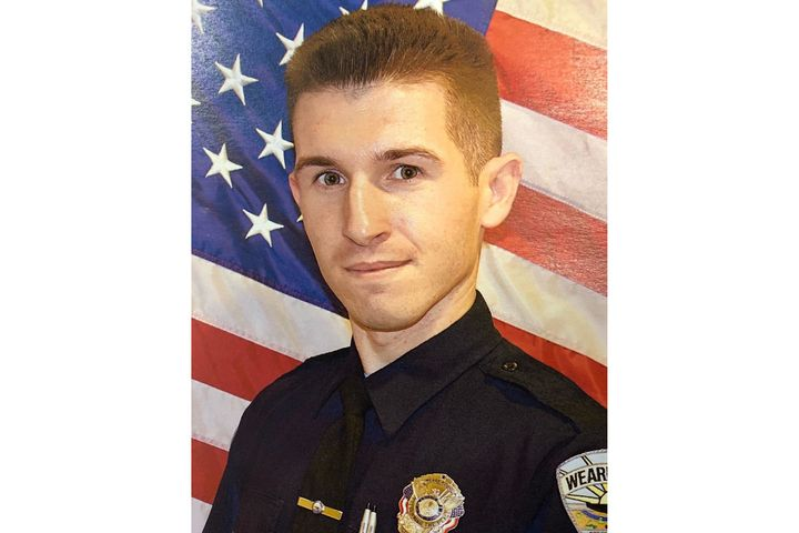 Officer William Paul Lewis, 27, was released from the hospital Monday.  - Photo: Weare (NH) Police Department