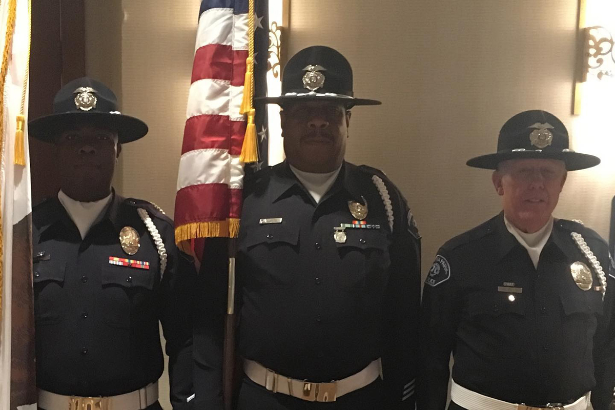 Arthur Brice (at center)—an reserve officer with the Buena Park (CA) Police Department—was killed in an off-duty vehicle collision in the city of Corona early Saturday morning.