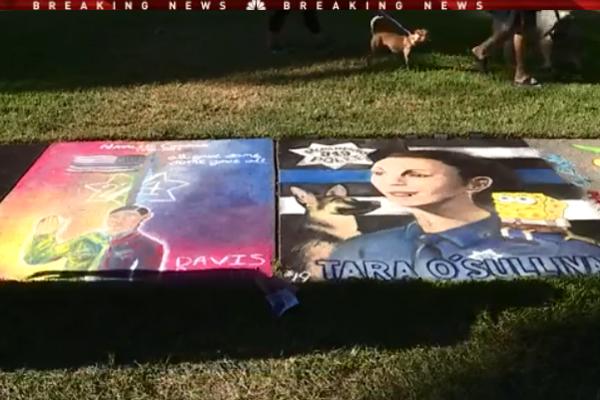 Sidewalk Chalk Art Festival Features Memorials to 2 Fallen California Officers