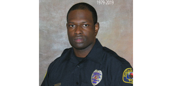 Officer Dornell Cousette with the Tuscaloosa (AL) Police Department was shot and killed in a...