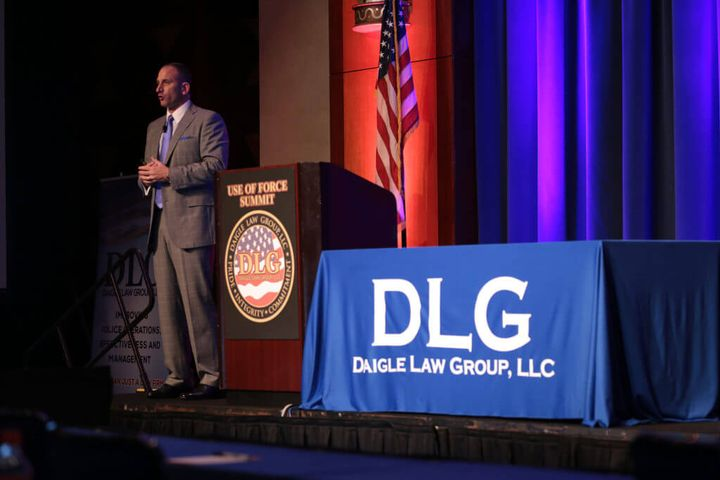 Eric Daigle, principle attorney for the Daigle Law Group and a former Connecticut State Police detective, speaks at last year's Use of Force Summit. (Photo: DLG)