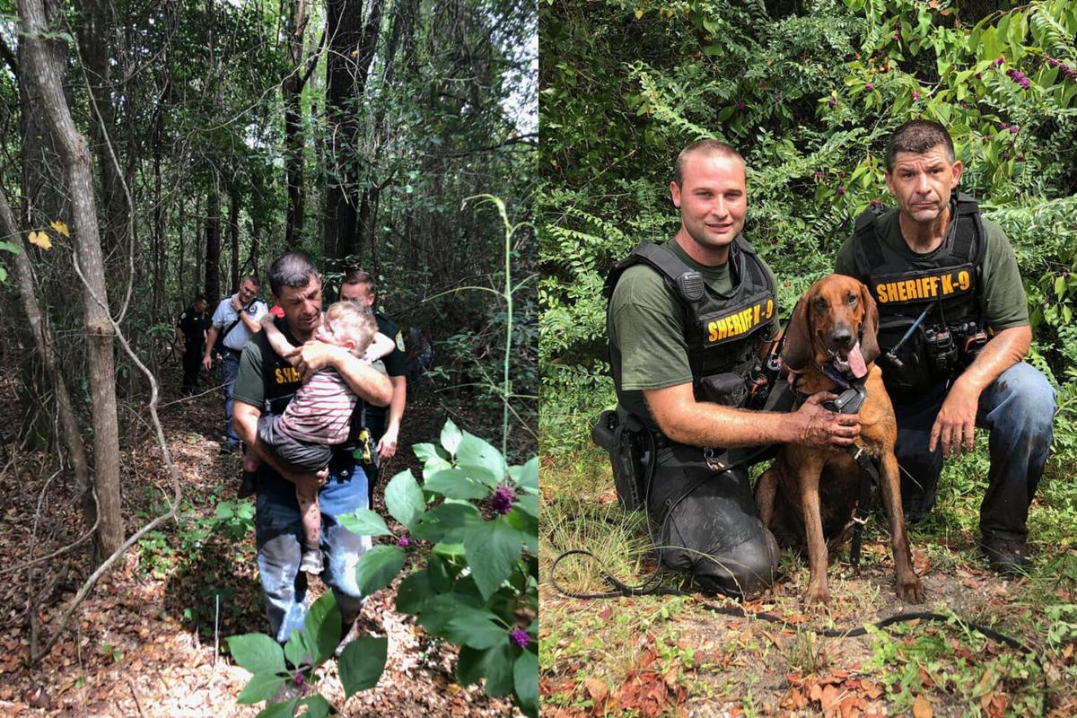 Florida Deputies, K-9 Help Locate Autistic Boy Lost in Woods
