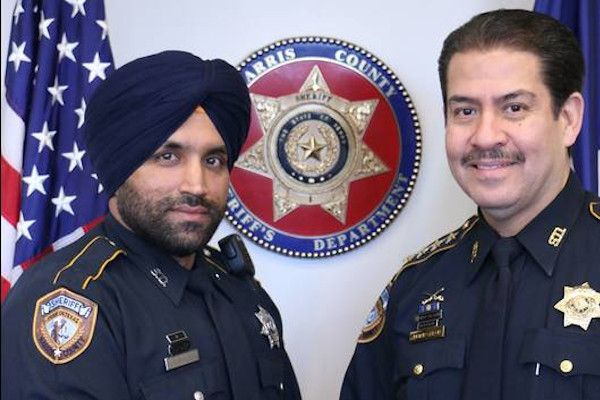 Deputy Sandeep Dhaliwal (left) was shot and mortally wounded on a traffic stop.