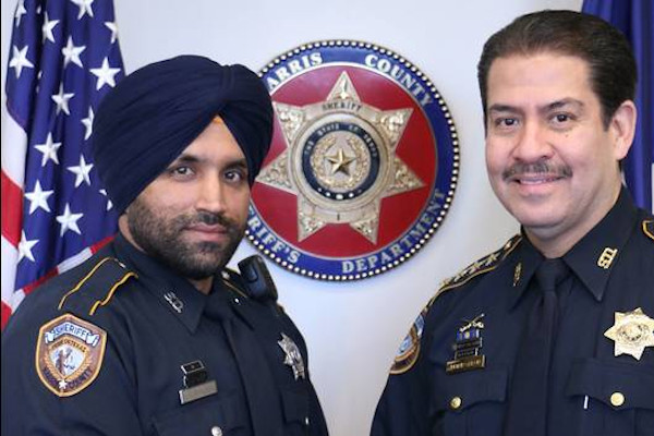 Deputy Sandeep Dhaliwal (left) was shot and mortally wounded on a traffic stop.  - Photo: Harris County (TX) Sheriff's Office