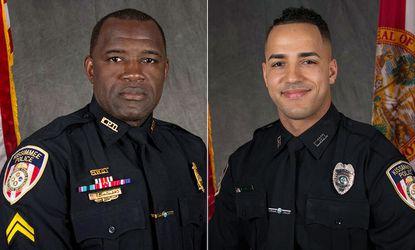 """Sgt. Richard """"Sam"""" Howard and Officer Matthew Baxter (Photos: Kissimmee PD)  -"""