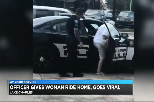 Video: Louisiana Officer Gives Elderly Woman a Ride Home