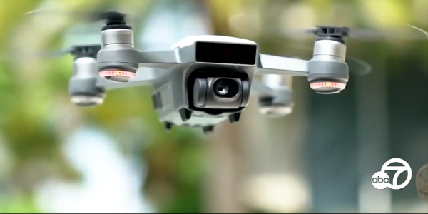 The Los Angeles Police Commission has approved use of drones by the LAPD. (Photo: KABC Screen...