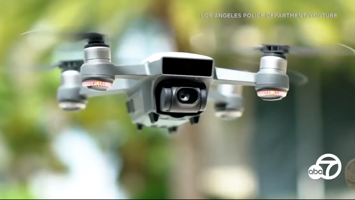 The Los Angeles Police Commission has approved use of drones by the LAPD. (Photo: KABC Screen Shot)  -