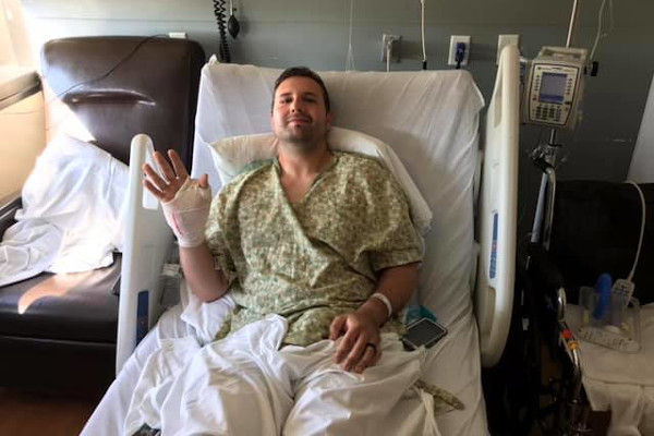 Corporal James Santana of the Odessa (TX) Police Department, who was wounded in the recent Texas Rampage, has been released from the hospital.  - Photo: Odessa (TX) PD/Facebook