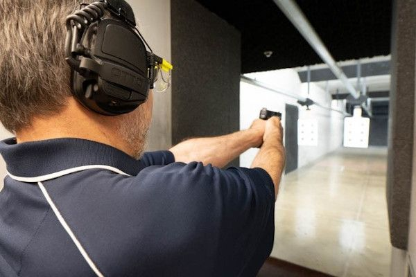 JR Rehayem, Otto senior account manager, was excited to return to the range after many years to try out the company's NoizeBarrier Range SA headset while shooting.