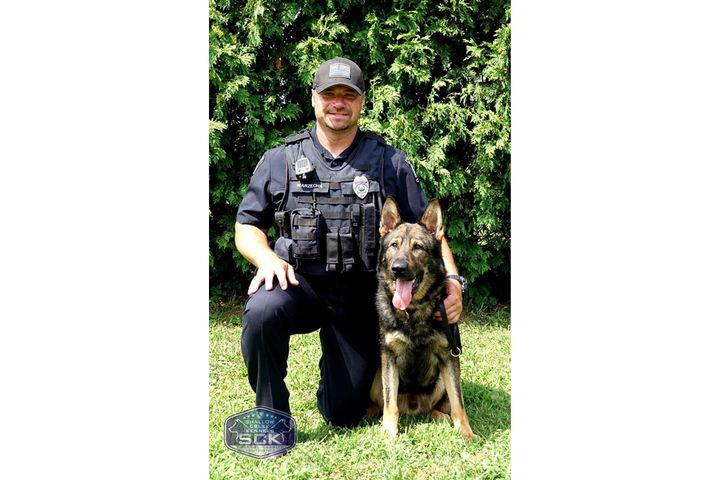 Officer Scott Warzecha and K-9 Kupper graduated the Shallow Creek Kennels Law Enforcement K-9 program in August.