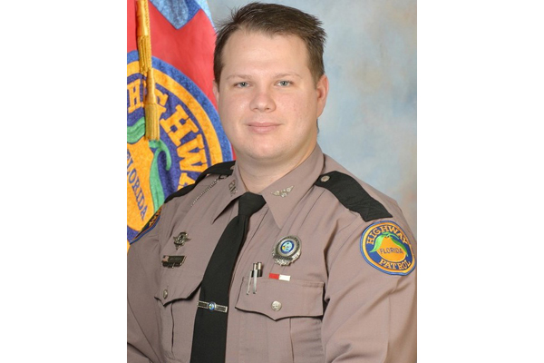 Trooper Tracy Vickers was killed in a collision with a truck carrying construction equipment on Friday morning.  - Image courtesy ofFlorida Highway Patrol.